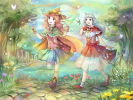 Commission: Nea and Eriu by kariavalon