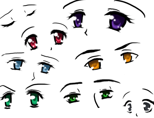 how to draw chibi manga eyes