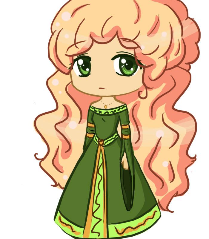chibi princess sketch by birdie121 on deviantart