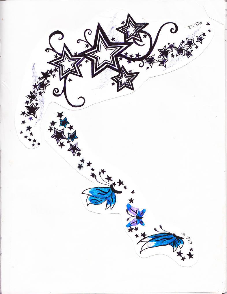 stars n butterfly tatoo by xxsirinnxx on deviantart. Black Bedroom Furniture Sets. Home Design Ideas
