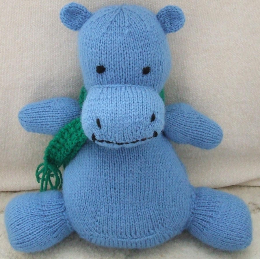 Hands Knitting Drawing : Hand knitted hippo by aes on deviantart