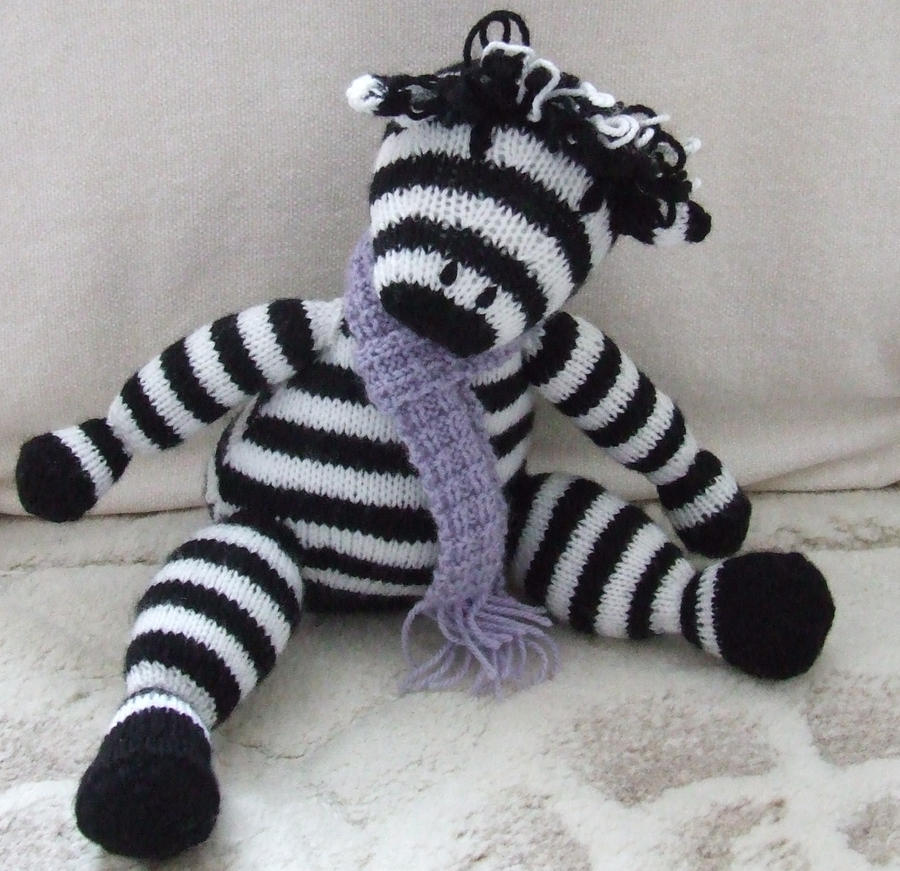Hands Knitting Drawing : Hand knitted zebra by aes on deviantart