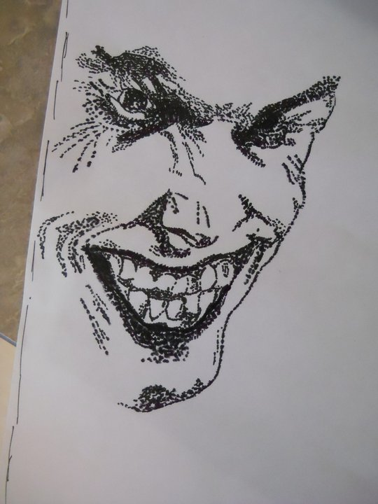 Joker Face Pointillism By Krowsnest
