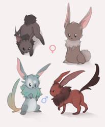 Bunnies by XaioShadow