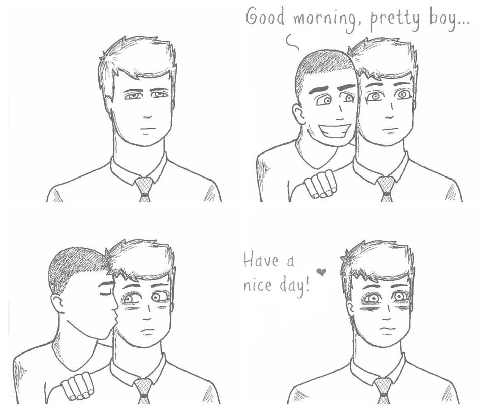 Good Morning, pretty boy... by CuteSerialKiller