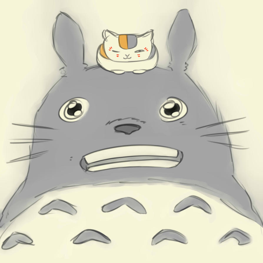 Totoro and Sensei by Grace022