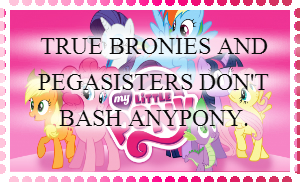 Character Bashing is NOT Acceptable Stamp by FeatherWishMLP