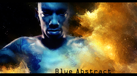 Blue abstract sign by marcioliver