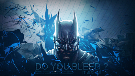Batman do you bleed by marcioliver