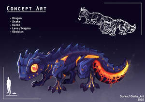 Concept art - Lava Gecko