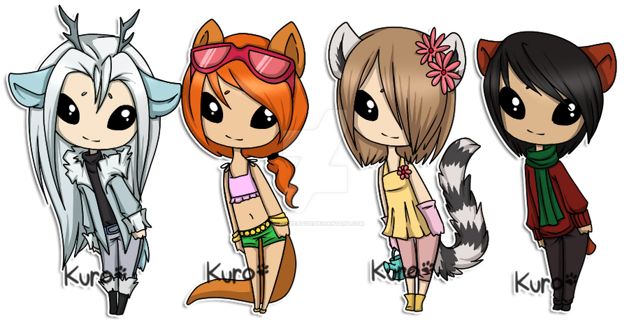 Chibi Adopts: SOLD by Kuro-Creations