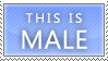 Male Stamp by Port-Metro