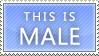 Male Stamp by GazeCreative