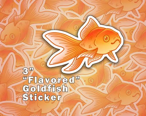 Flavored Goldfish Vinyl Stickers [UFS]