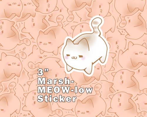 Marsh-MEOW-low Vinyl Stickers [UFS]