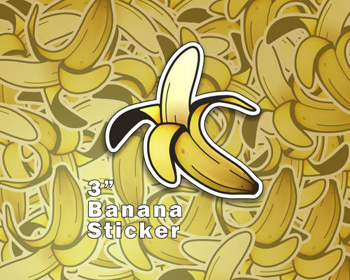 Banana Vinyl Stickers [UFS]