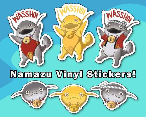 FFXIV Namazu Vinyl Stickers [UFS]