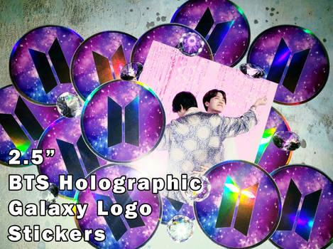 BTS Holographic Galaxy Logo Vinyl Sticker [UFS]