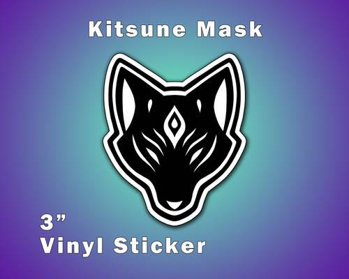 Kitsune Fox Mask Vinyl Sticker [UFS]