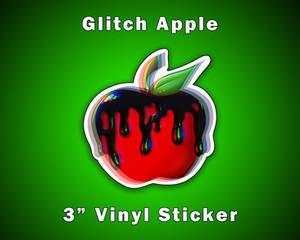 Poison Glitch Apple Sticker Vinyl Sticker [UFS]