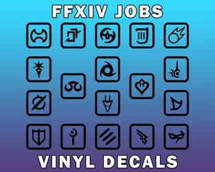 FFXIV Job Decals | Weatherproof Decals [UFS]
