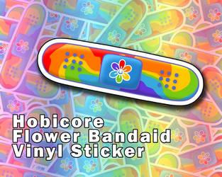 BTS Hobicore Rainbow Flower Bandaid Sticker