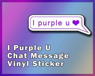BTS I Purple U Chat Message Sticker [UFS]