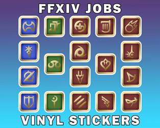 FFXIV Job Stickers Waterproof Vinyl Stickers [UFS]