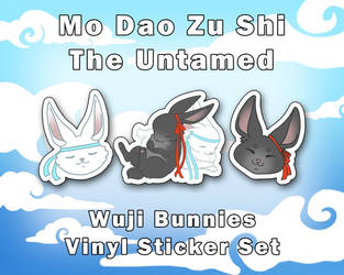 WuJi Bunnies Vinyl Sticker Set [UFS]