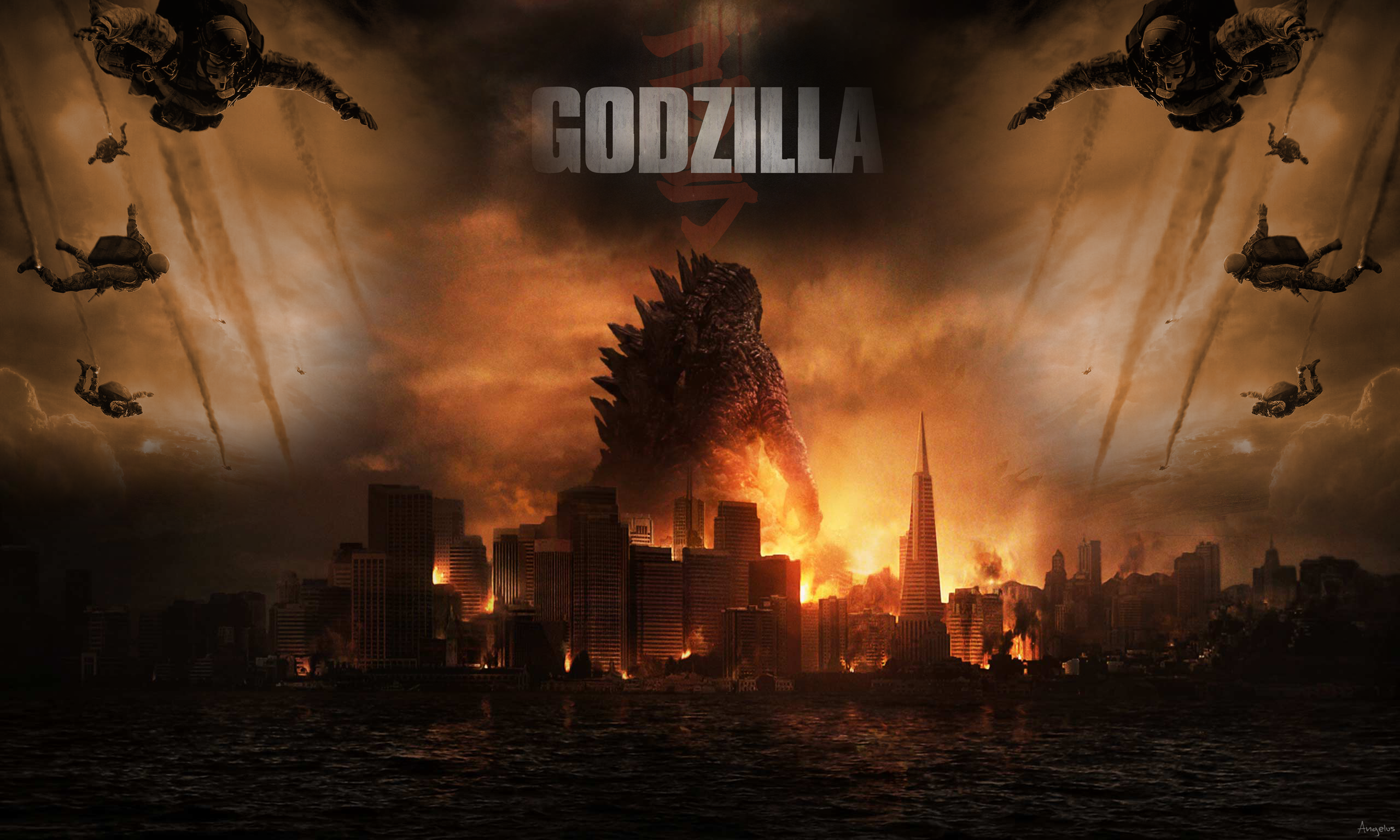 Godzilla 2014 Movie Wallpaper Godzilla 2014 Wallpape...