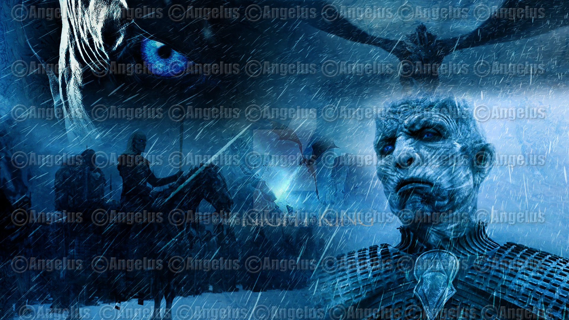 The Night King Game Of Thrones Poster Wallpaper By Angelus23 On