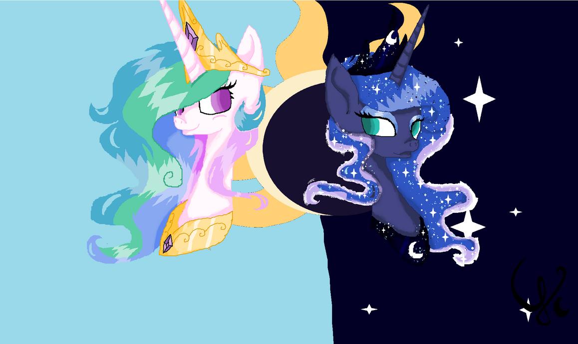 Celestia and Luna Vector by IheartNico2 on DeviantArt