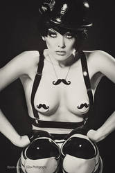 Bowled over by moustachioed Miss Miranda by ladylucie