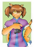 Kitty-Kat-Gamer-purple by PMDallasArt