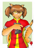 Kitty-Kat-Gamer-Color-red by PMDallasArt