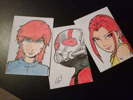 ATC Cards 12-9-15 by PMDallasArt