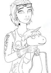 Punk Girl Wins a Unicorn