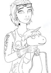 Punk Girl Wins a Unicorn