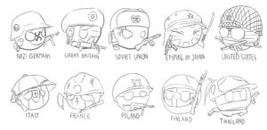 Sketch #2 Country-balls in World War 2 WIP