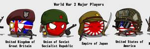 Country-Balls #1 Major Players of World War II