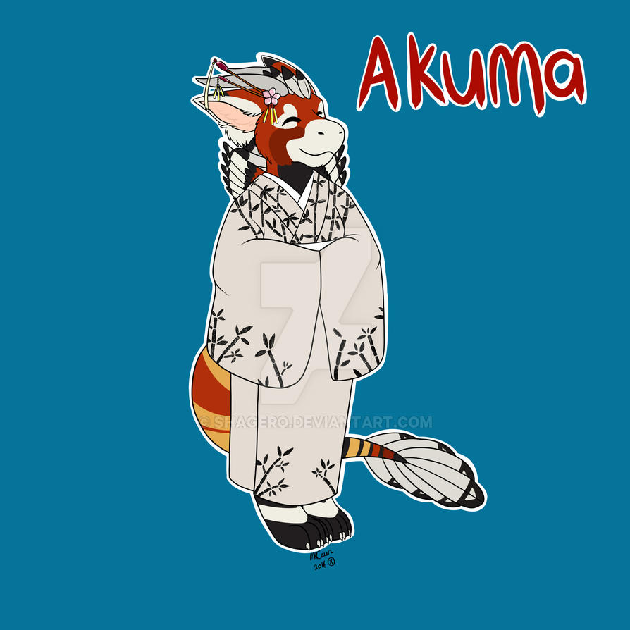 Akuma Kimono commission completed by Shagero