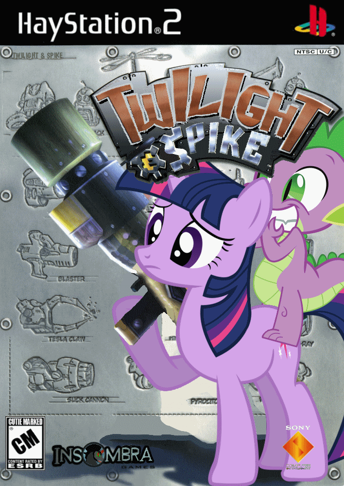 Twilight and Spike by nickyv917