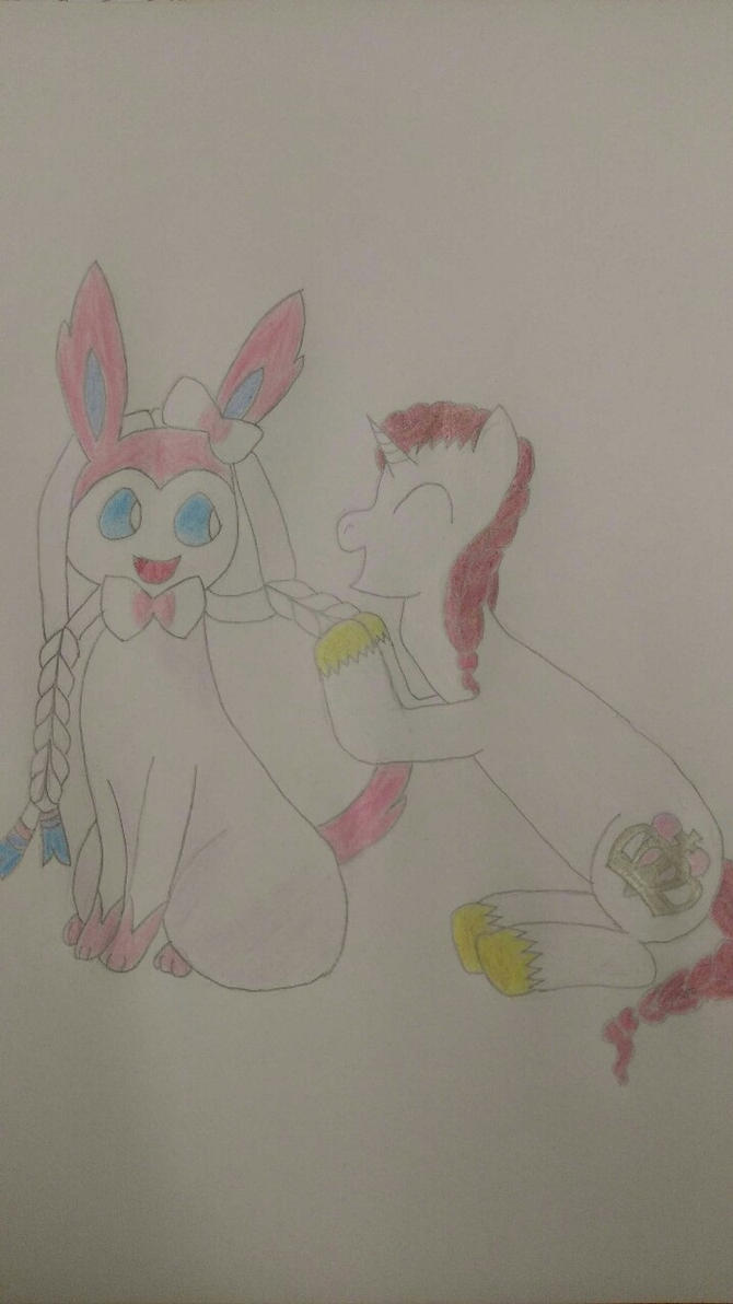 CakeyWakey and Sylveon by nickyv917