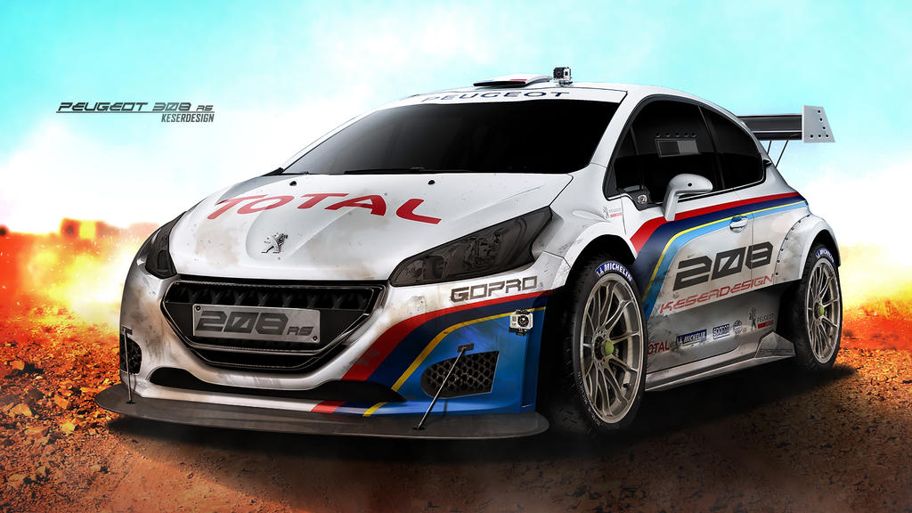 Peugeot 208 R5 Rally Make In Photoshop By KDessing