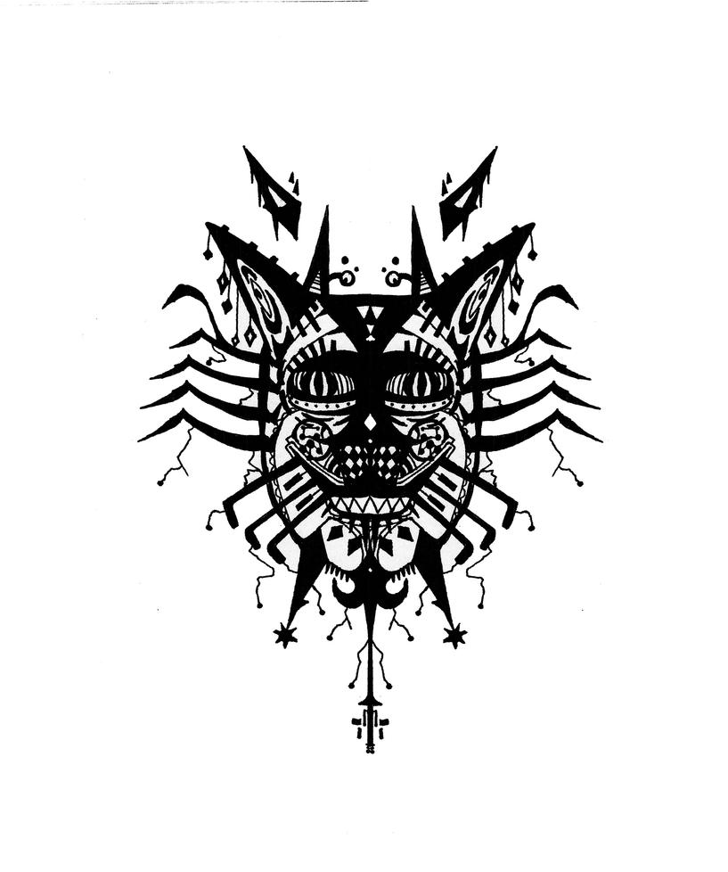 Tribal Tiger By Ruttan On Deviantart: Tribal Tiger Mask Shirt By Lilsnowpop On DeviantArt