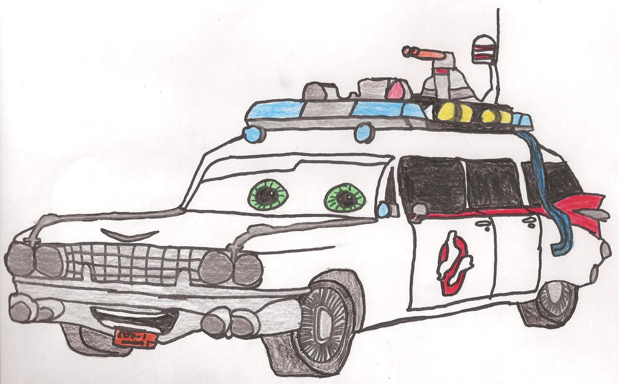 Ecto-1 Colored -Cars version- by kbyyru