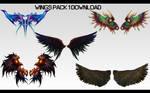 MMD Wings Pack 1 DL