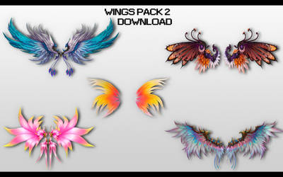 MMD Wings Pack 2 DL by UnluckyCandyFox