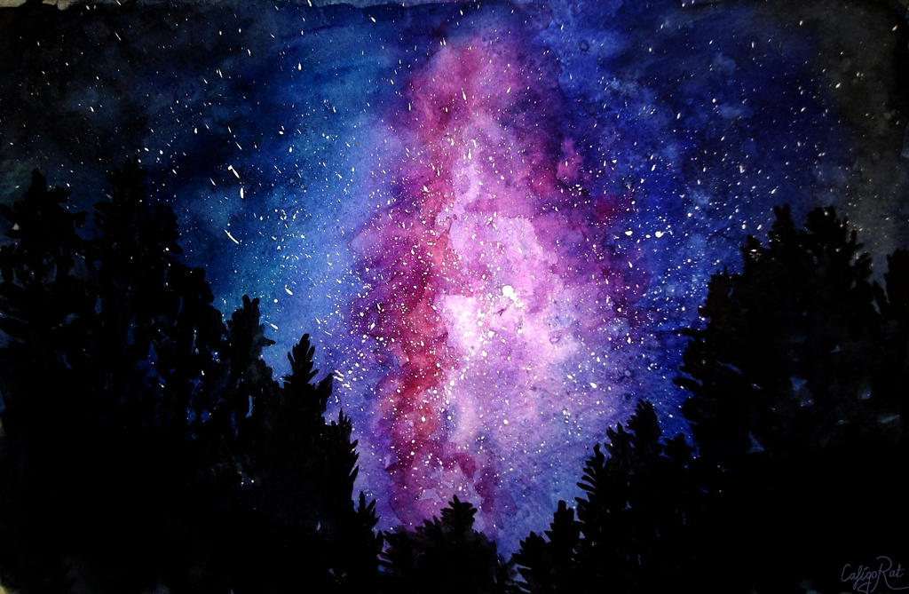 Starry Sky By Caligo Rat On Deviantart