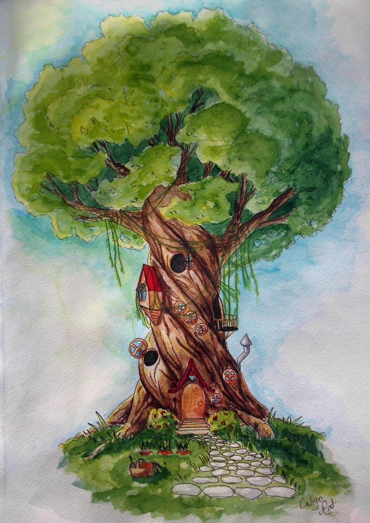 Treehouse by Caligo-Rat